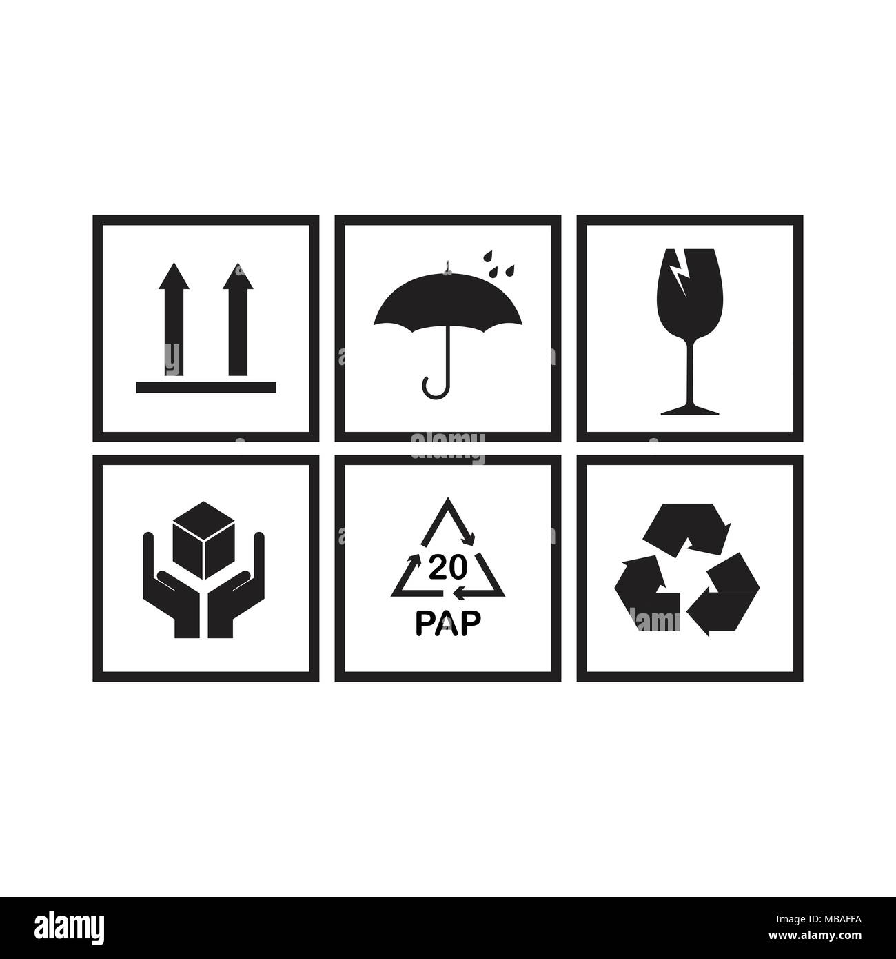Packaging Symbols Stock Photos & Packaging Symbols Stock Images - Alamy