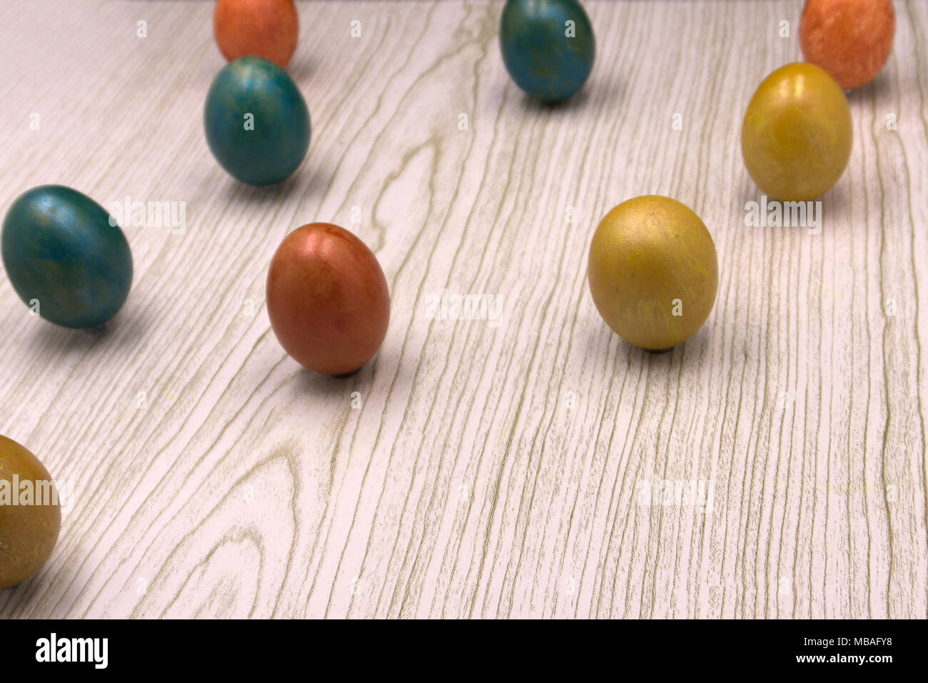 Easter colored eggs religion safe shell shiny spring Stock Photo