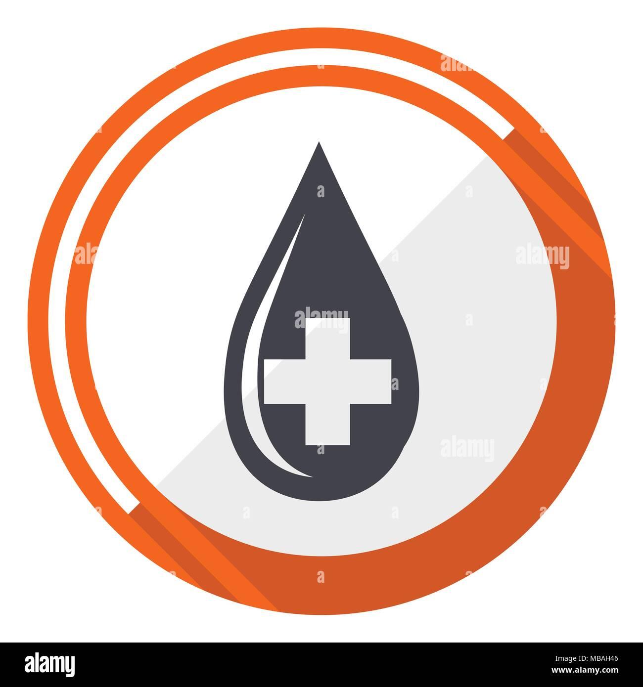 Blood test logo vector icon stock photos blood test logo vector blood flat design vector web icon round orange internet button isolated on white background buycottarizona Images