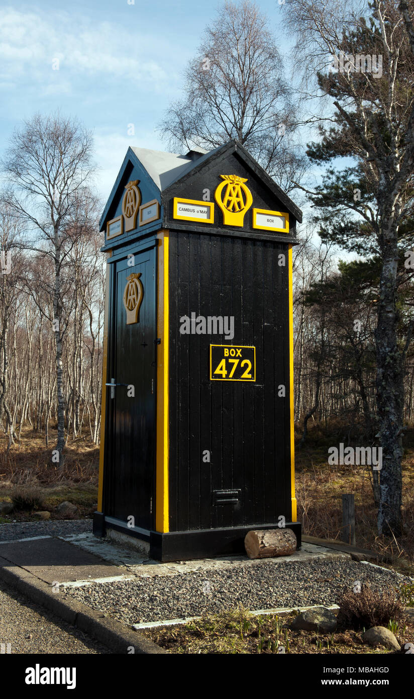 472 Stock Photos Images Alamy Cadillac Engine Diagram Aa Telephone Box At Cambus Omay Ballater Deeside Aberdeenshire