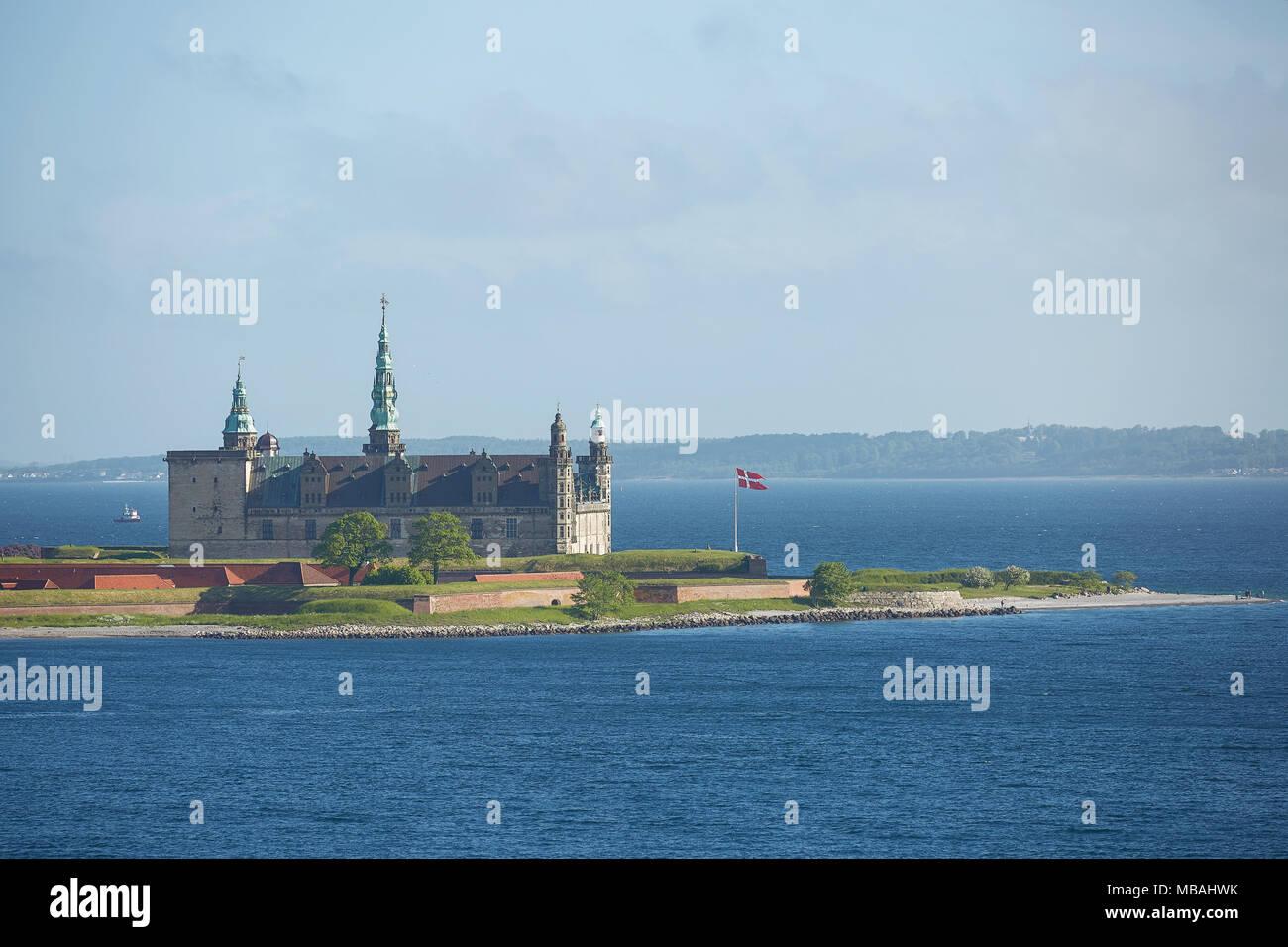 Kronborg castle in Helsingor, Denmark. - Stock Image
