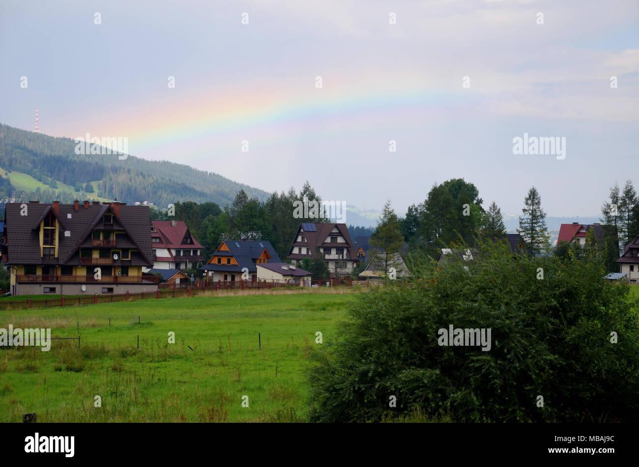Rainbow - Tatra Mountains in Poland - Stock Image