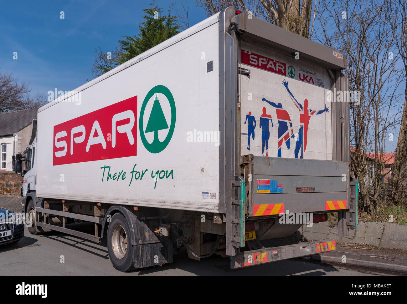 24a3b92eaa grocery store delivery lorry. - Stock Image grocery store delivery lorry.  MBAKET (RM). North Wales