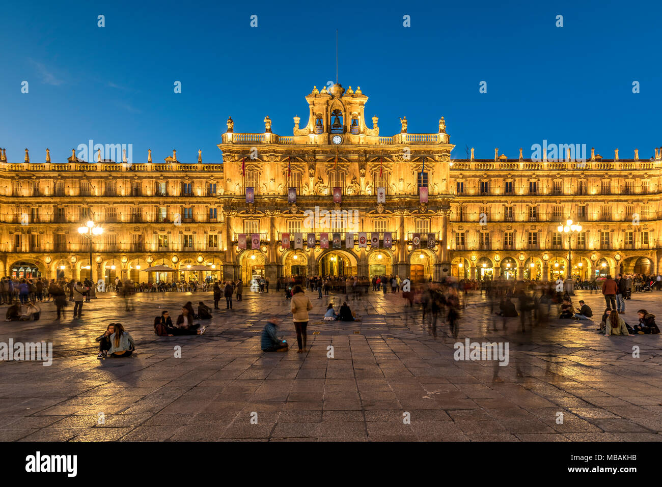 Plaza Mayor, Salamanca, Castile and Leon, Spain Stock Photo