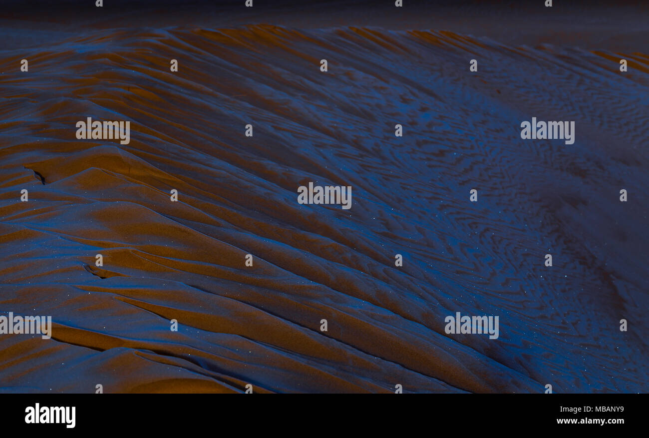 Littl Sahara frozen sand dunes - Stock Image