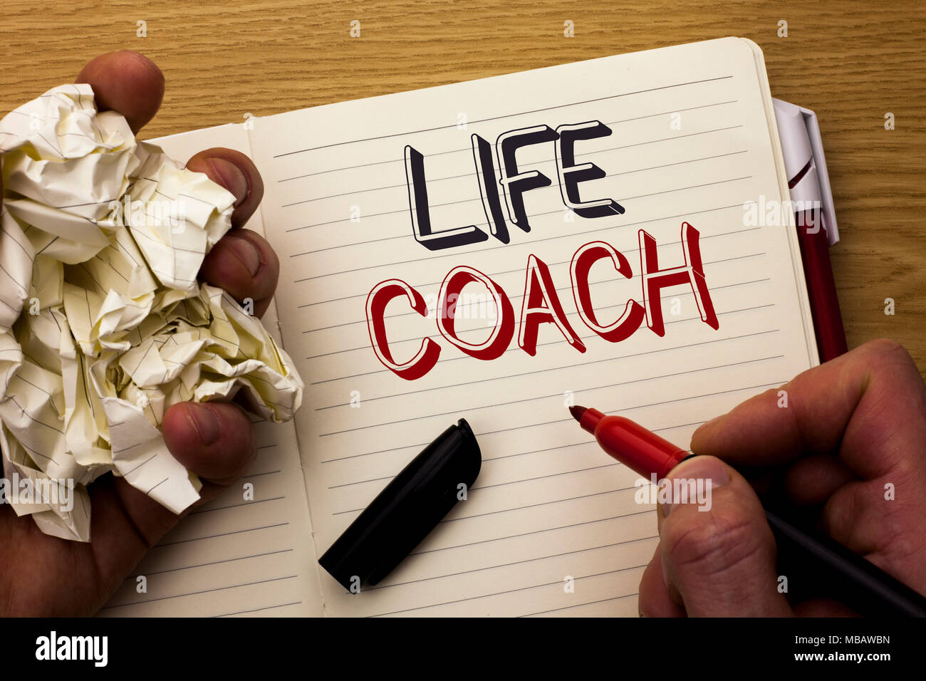 Handwriting text Life Coach  Concept meaning Mentoring