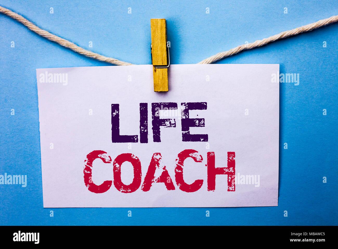 Text sign showing Life Coach  Conceptual photo Mentoring