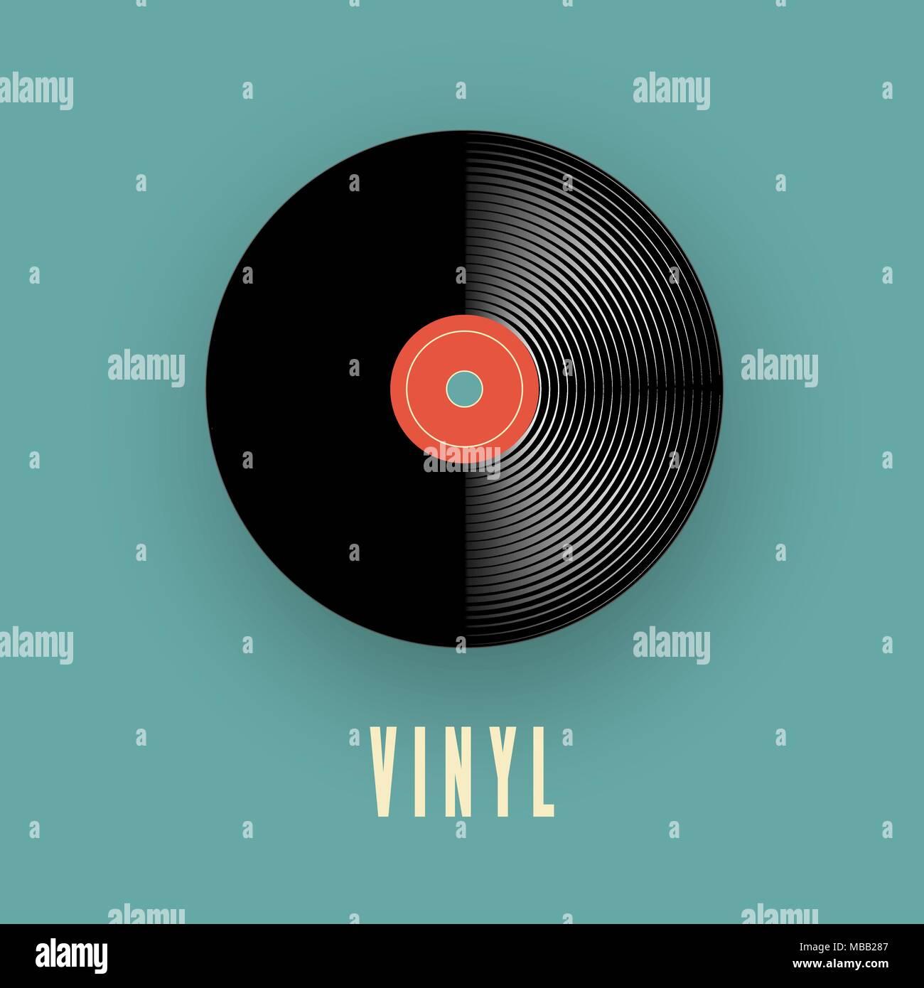 vinyl music record old vintage gramophone record vector illustration stock vector image art alamy https www alamy com vinyl music record old vintage gramophone record vector illustration image179108167 html