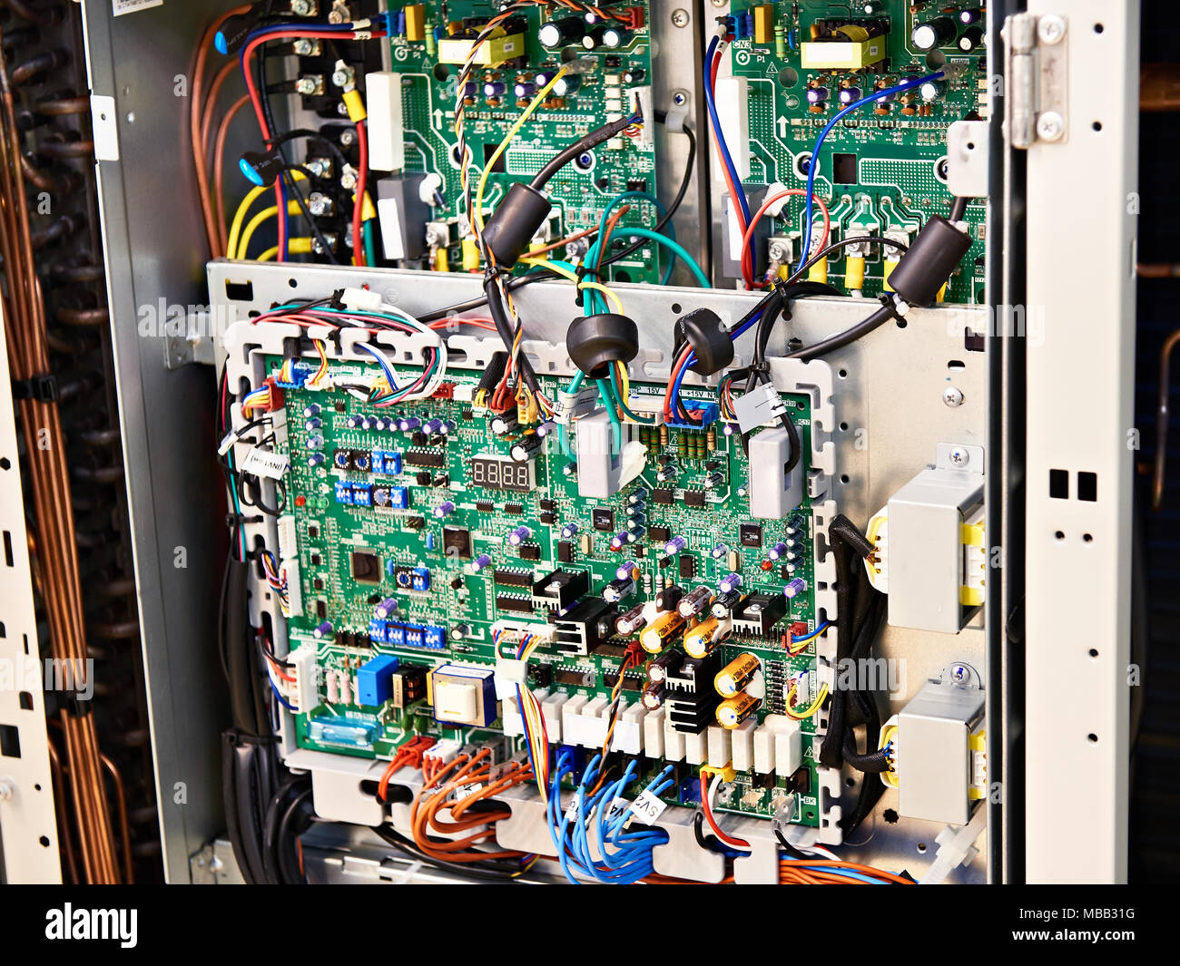 Electronic Circuits Stock Photos Images And Electronics Inside Equipment With Components Image