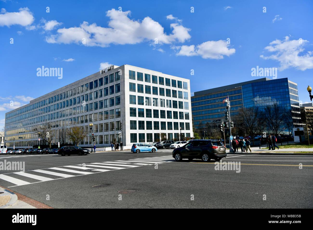 Department of Transportation Federal Aviation Administration Orville Wright Building in Washington DC, USA - Stock Image