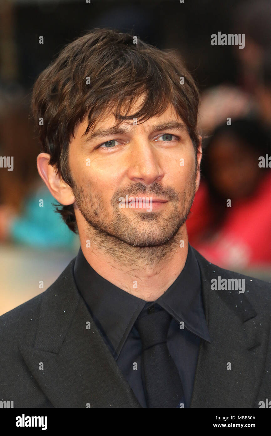 London, UK. 9th Apr, 2018. Michiel Huisman, The Guernsey Literary and Potato Peel Pie Society - World Premiere, Curzon Mayfair, London UK, 09 April 2018, Photo by Richard Goldschmidt Credit: Rich Gold/Alamy Live News Stock Photo