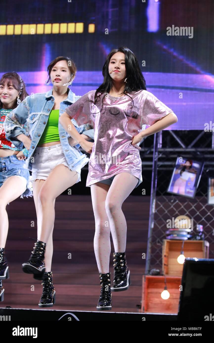 Seoul, Korea  09th Apr, 2018  Twice hold showcase to promote