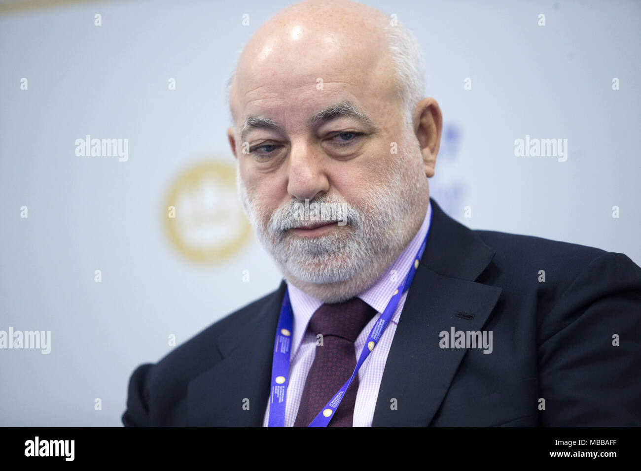 June 2, 2017 - Saint Petersburg, Russia - Russian billionaire and chairman of Renova Group, Victor Vekselberg attends a session of the St. Petersburg International Economic Forum (SPIEF)..06 April 2018 have been put on sanctions list by the US Department of the Treasurys Office of Foreign Assets Control (OFAC) in consultation with the US Department of State. (Credit Image: © Igor Russak/SOPA Images via ZUMA Wire) - Stock Image