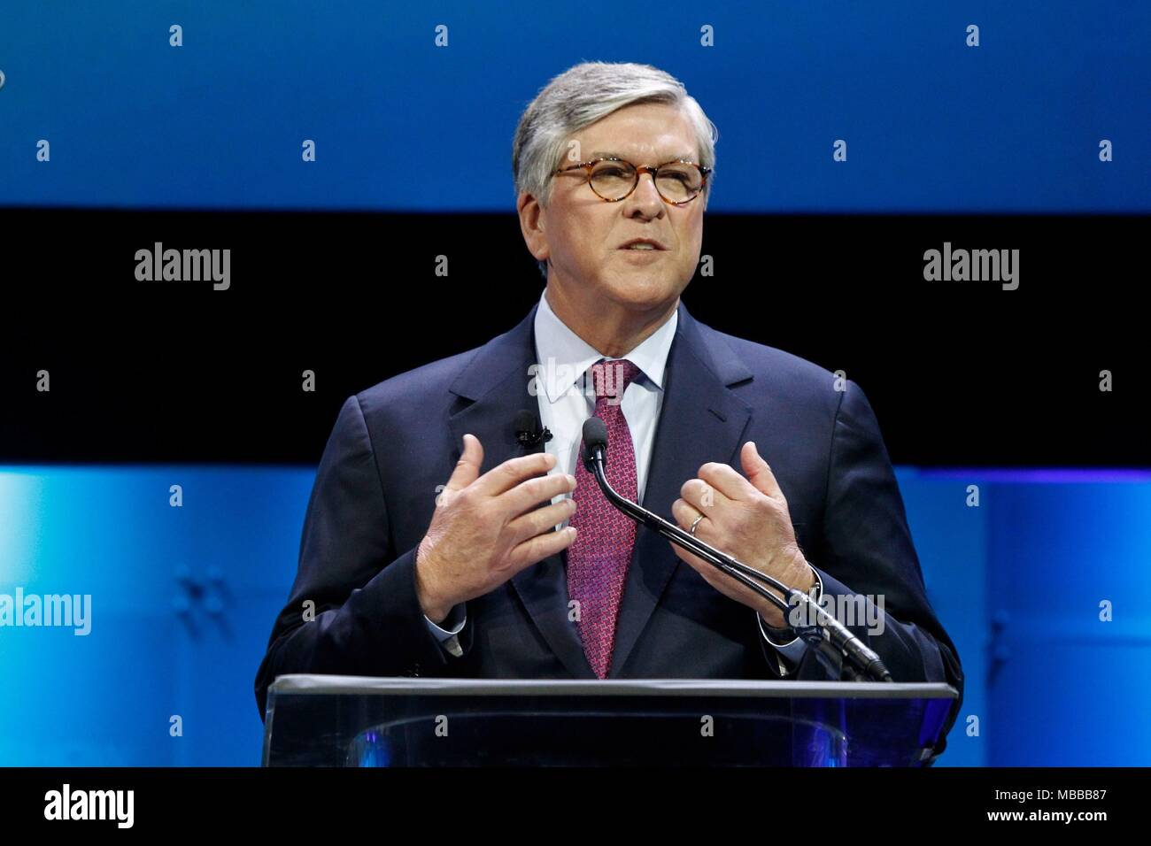 Las Vegas, NV, USA. 9th Apr, 2018. Gordon Smith (NAB President and CEO) in attendance for National Association of Broadcasters NAB Show - MON, Las Vegas Convention Center, Las Vegas, NV April 9, 2018. Credit: JA/Everett Collection/Alamy Live News Stock Photo