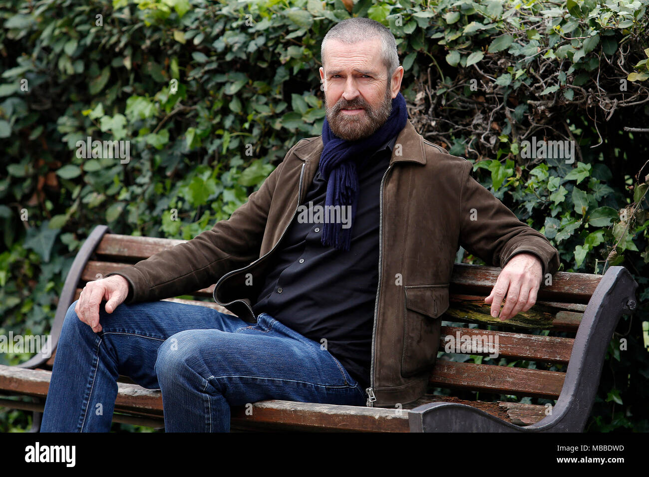 Rupert Everett Roma 10/04/2018. The Happy Prince - L'ultimo ritratto di Oscar Wilde Photocall. Rome April 10th Rupert Everett poses for photographers during the premiere of the film The Happy Prince  Foto Samantha Zucchi Insidefoto - Stock Image