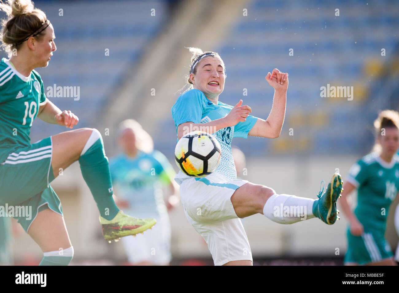 Simple Europe World Cup 2018 - 10-april-2018-slovenia-domzale-soccer-womens-world-cup-qualification-europe-group-stages-slovenia-vs-germany-germanys-svenja-huth-l-and-slovenias-lara-ivanusa-c-in-action-photo-sasa-pahic-szabodpa-MBBE5F  Perfect Image Reference_548349 .jpg