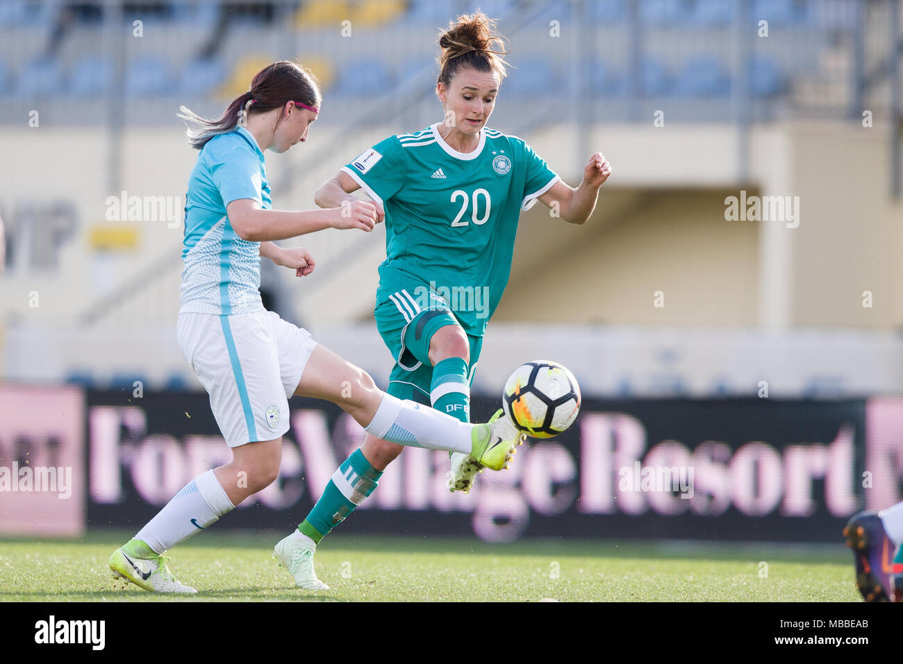 Popular Europe World Cup 2018 - 10-april-2018-slovenia-domzale-soccer-womens-world-cup-qualification-europe-group-stages-slovenia-vs-germany-germanys-lina-magull-r-and-slovenias-kaja-korosec-in-action-photo-sasa-pahic-szabodpa-MBBEAB  Picture_8583 .jpg