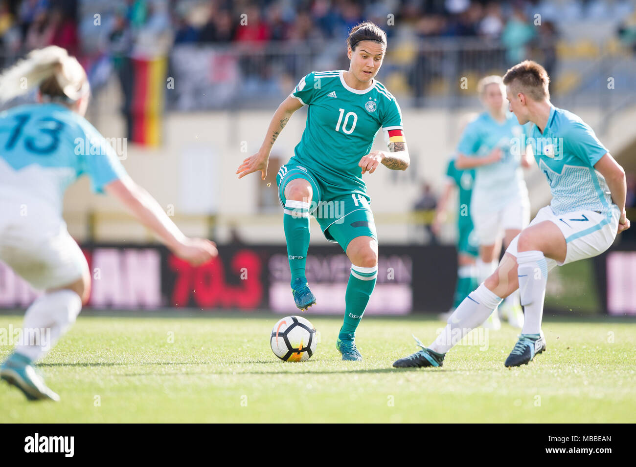 Wonderful Europe World Cup 2018 - 10-april-2018-slovenia-domzale-soccer-womens-world-cup-qualification-europe-group-stages-slovenia-vs-germany-germanys-dzsenifer-marozsan-c-and-slovenias-kristina-erman-r-in-action-slovenias-lara-ivanusa-on-the-left-photo-sasa-pahic-szabodpa-MBBEAN  Photograph_272391 .jpg