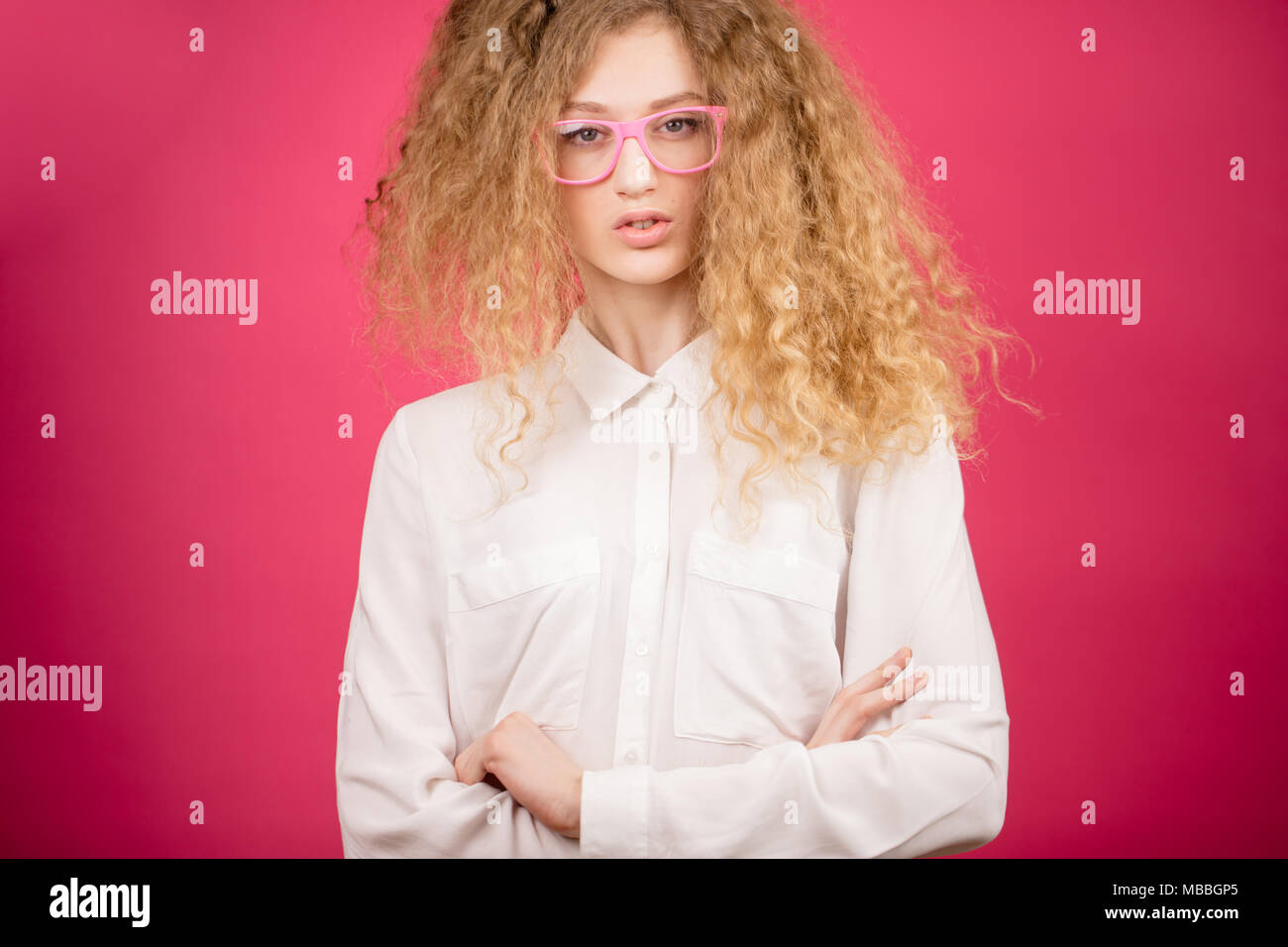 Frizzy Hair Woman Funny High Resolution Stock Photography And Images Alamy