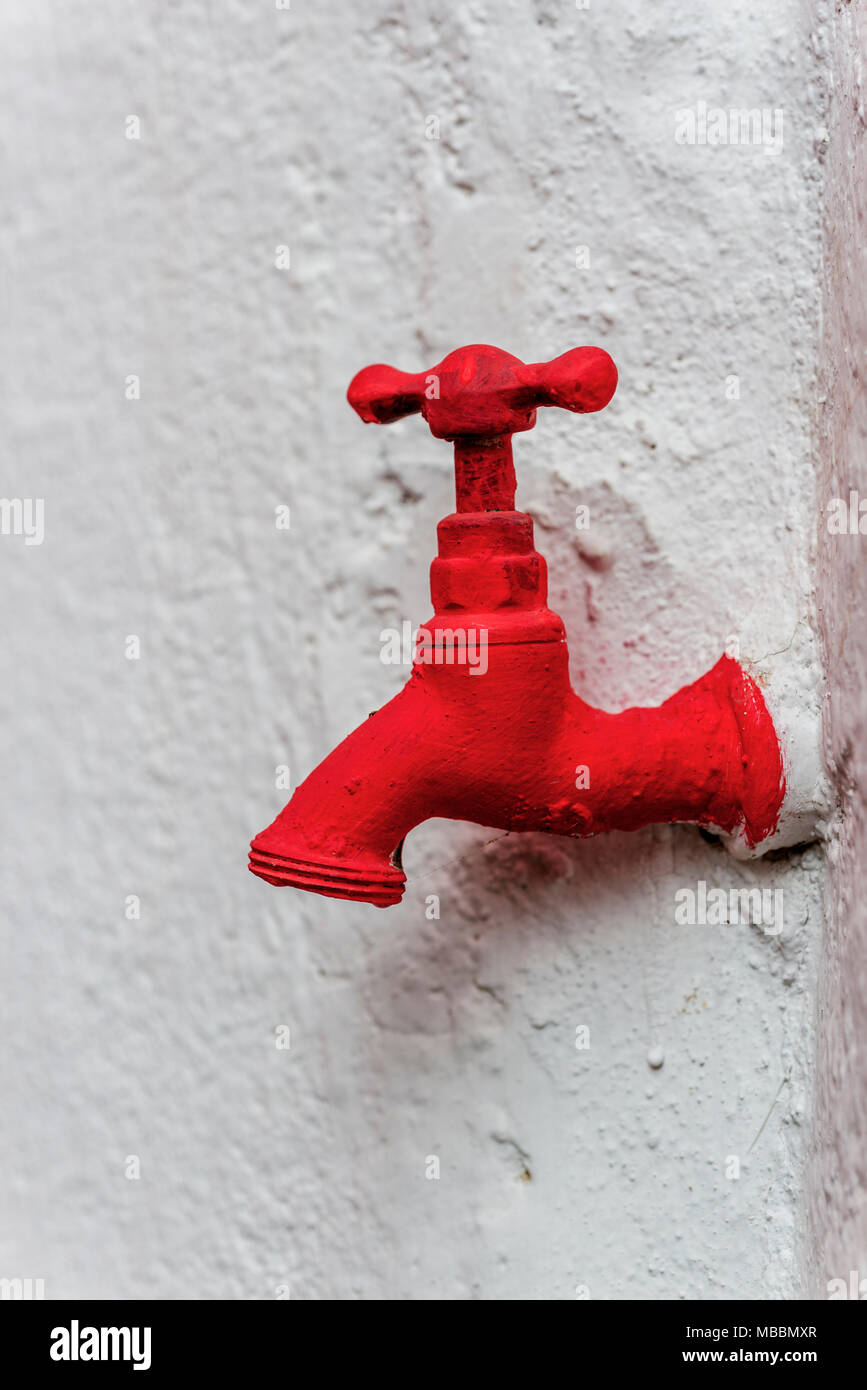 Old Red Water Faucet Stock Photos & Old Red Water Faucet Stock ...