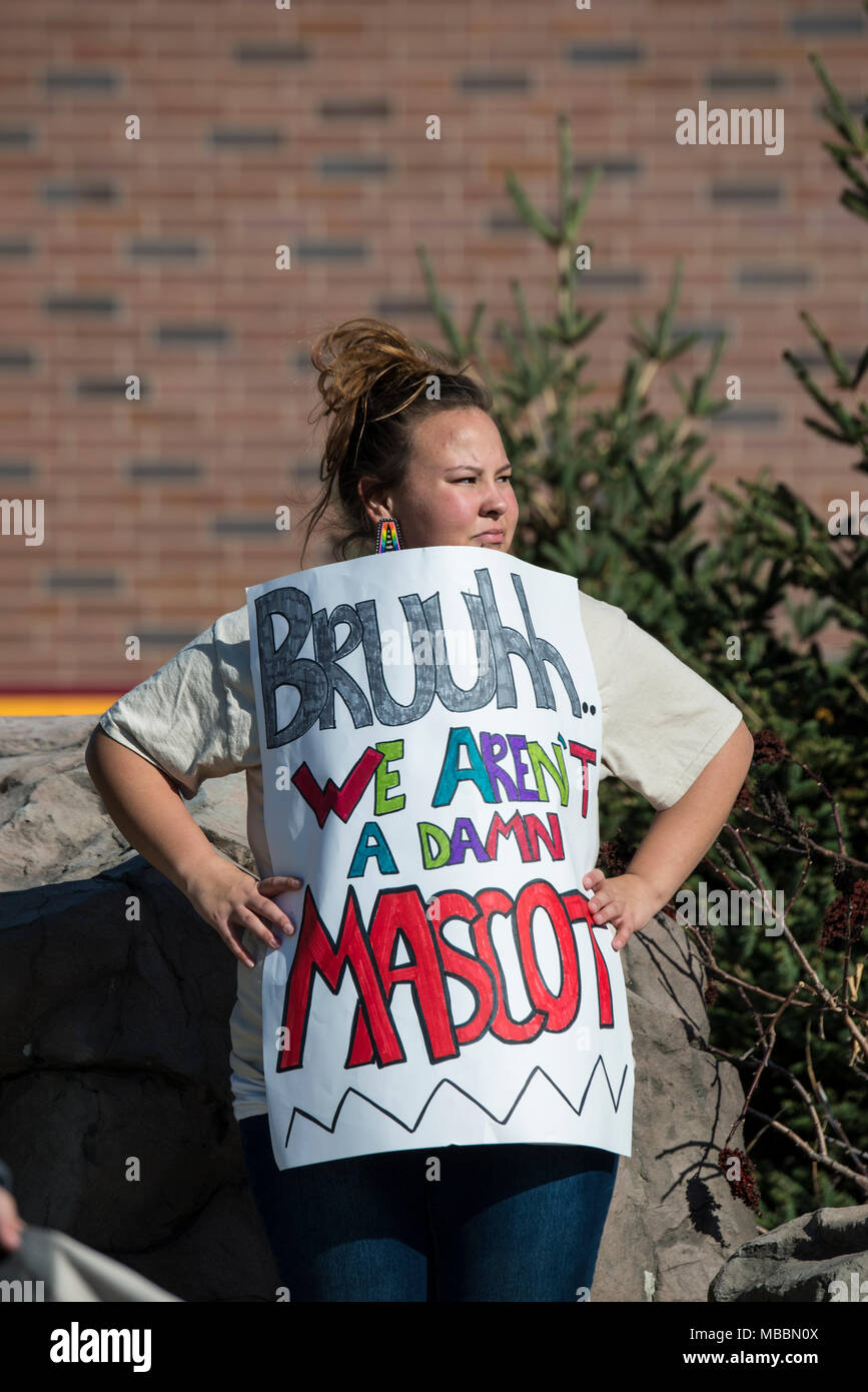 Minneapolis, Minnesota. Rally against racism in the NFL. - Stock Image