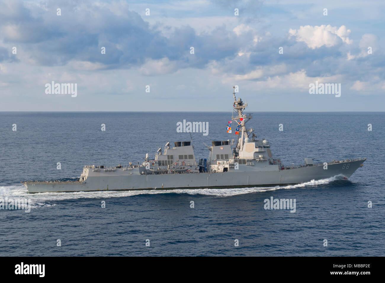 USS Preble DDG-88 and HMAS Melbourne in Philippine Sea Photo Print