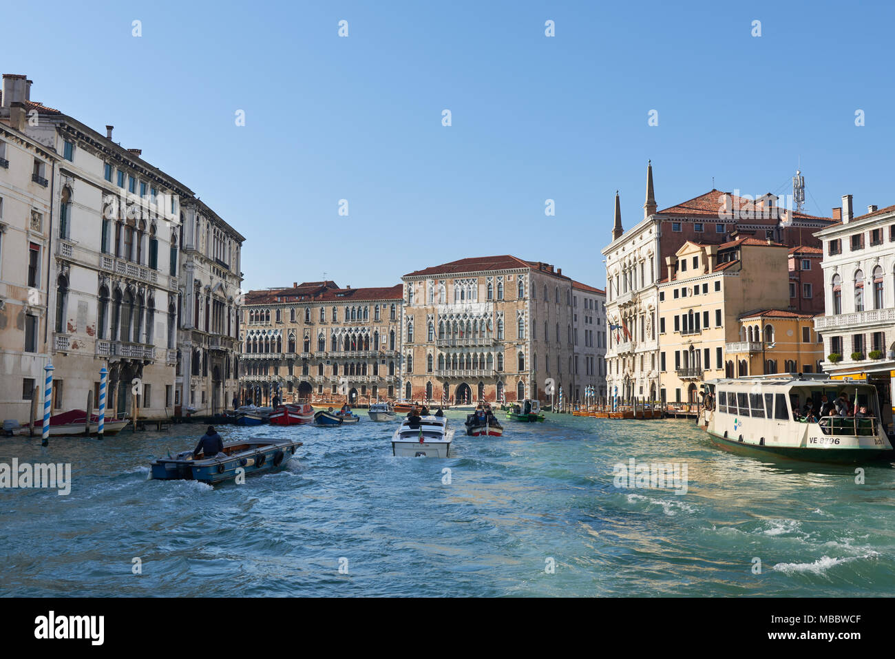 Venice, Italy - Febuary 19, 2016: Venice, a city in northeastern italy. It is famous for the beauty of its settings, archtecture and artwork. A part o - Stock Image