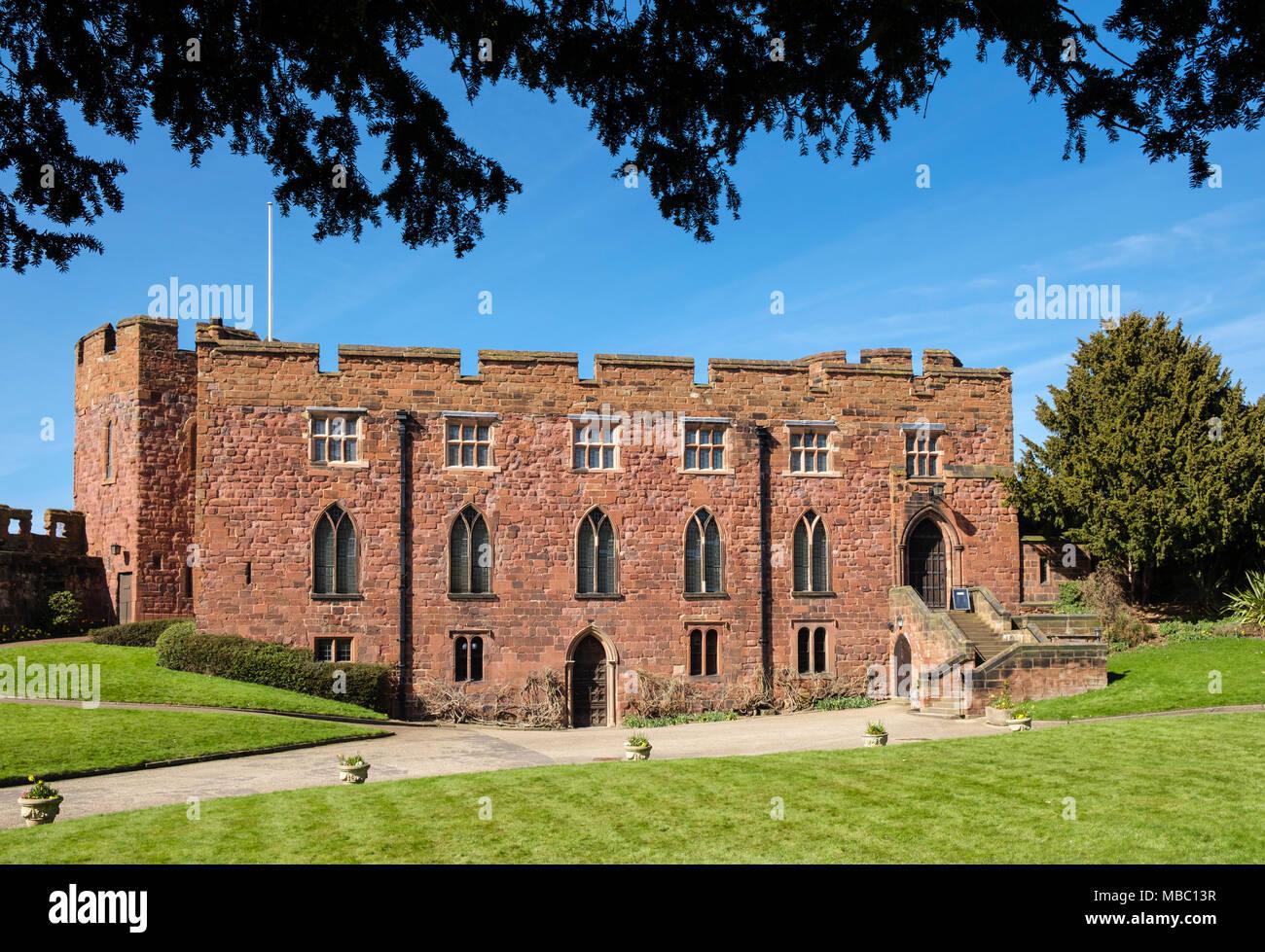 The Shropshire Regimental Museum in the medieval 11th century red-brick Castle. Shrewsbury, Shropshire, West Midlands, England, UK, Britain - Stock Image