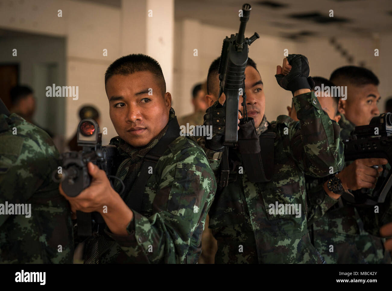 Royal Thai Army Soldiers with with 2nd Battalion, 3rd