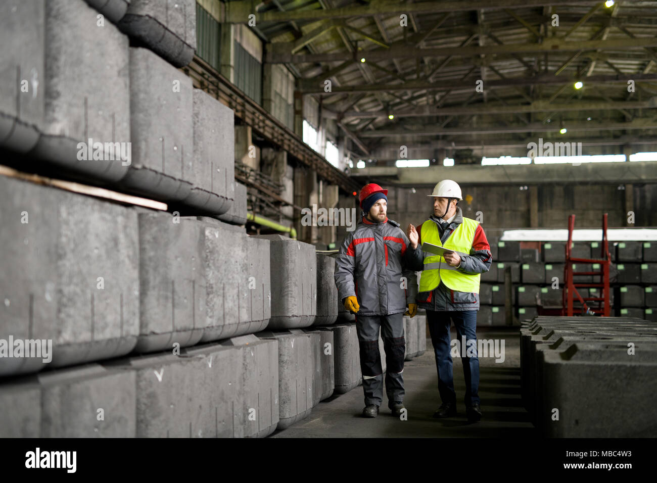 Heavy Industry Workers - Stock Image
