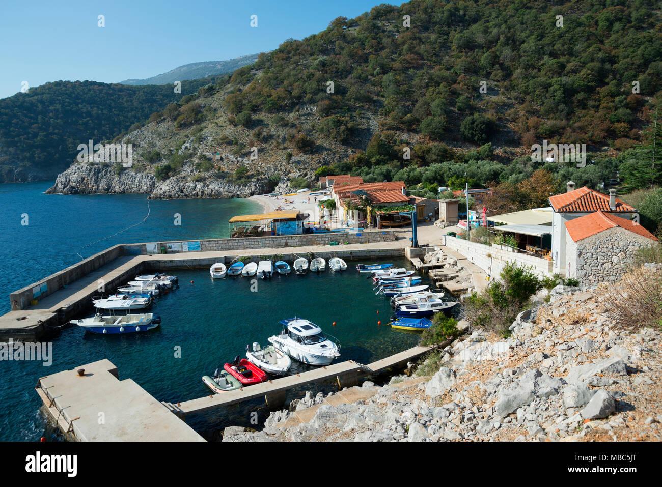 Port, Beli, Cres Island, Kvarner Gulf Bay, Croatia - Stock Image
