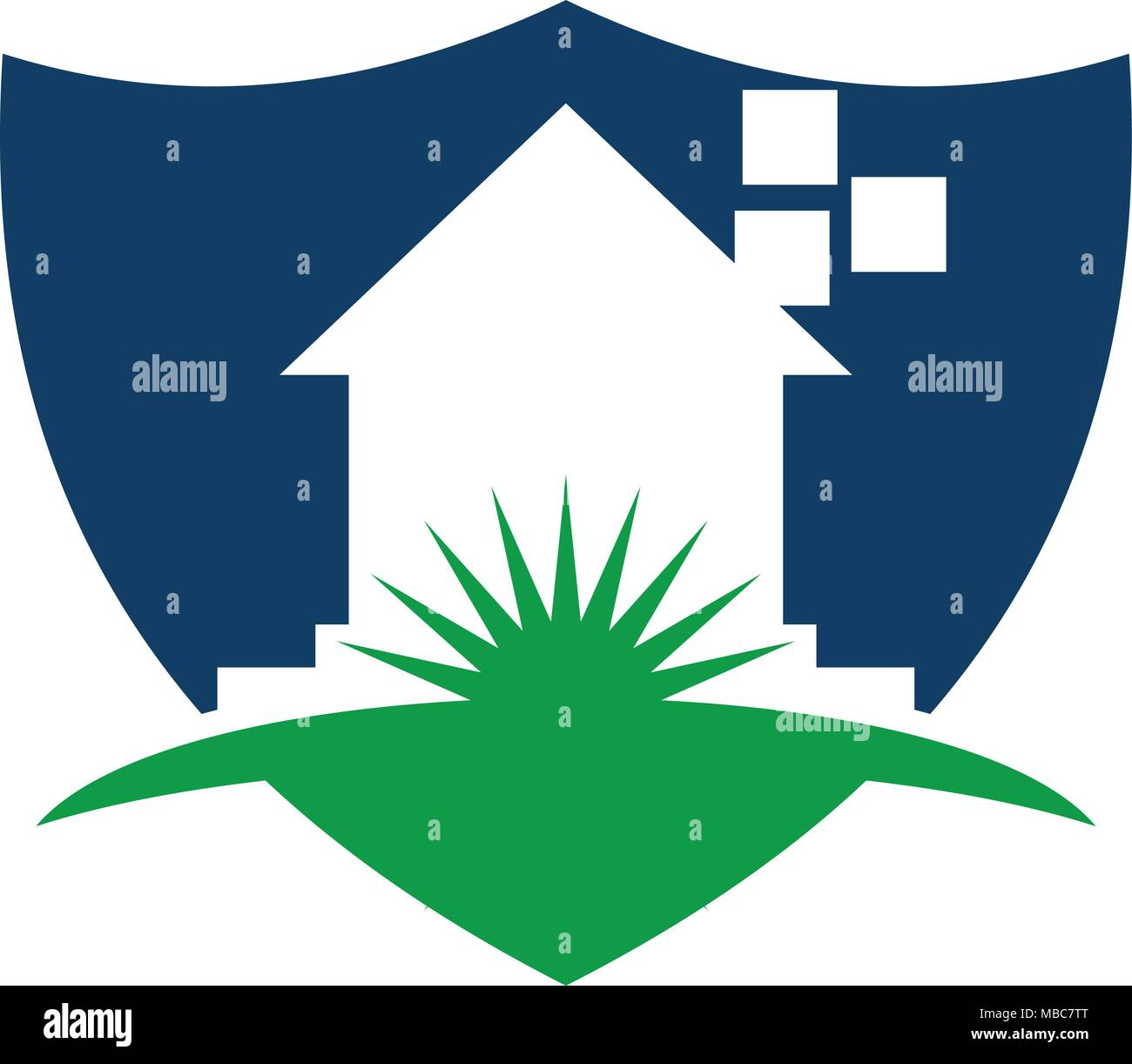 Home Shield Logo Design Template Vector Stock Vector Art ...