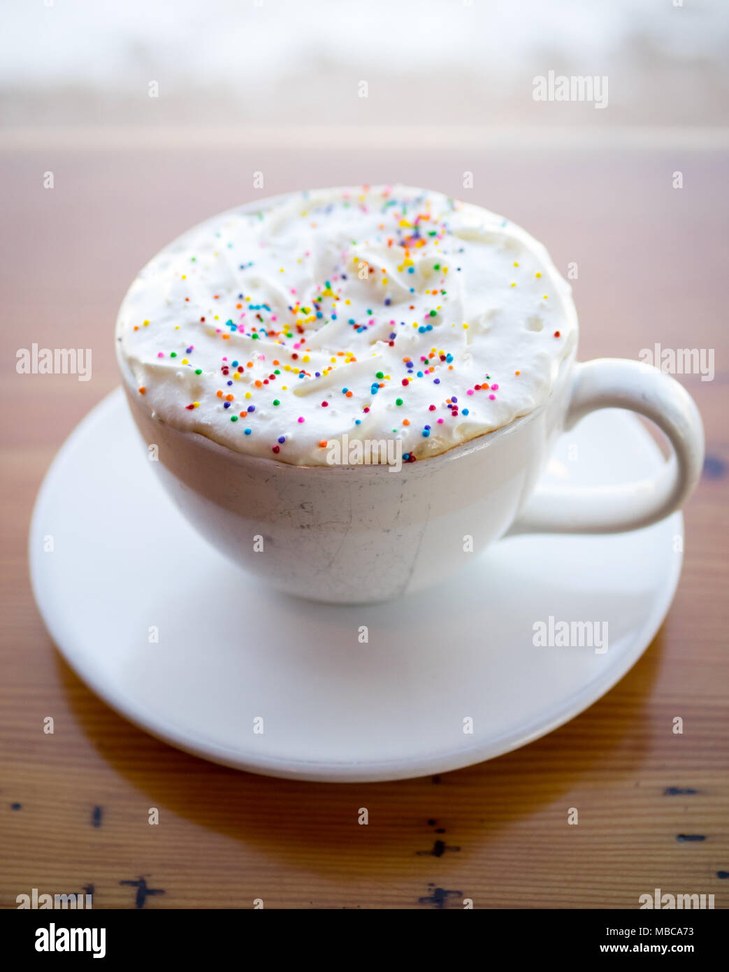 Superb A Birthday Cake Latte From Dlish By Tish Cafe In Saskatoon Funny Birthday Cards Online Chimdamsfinfo