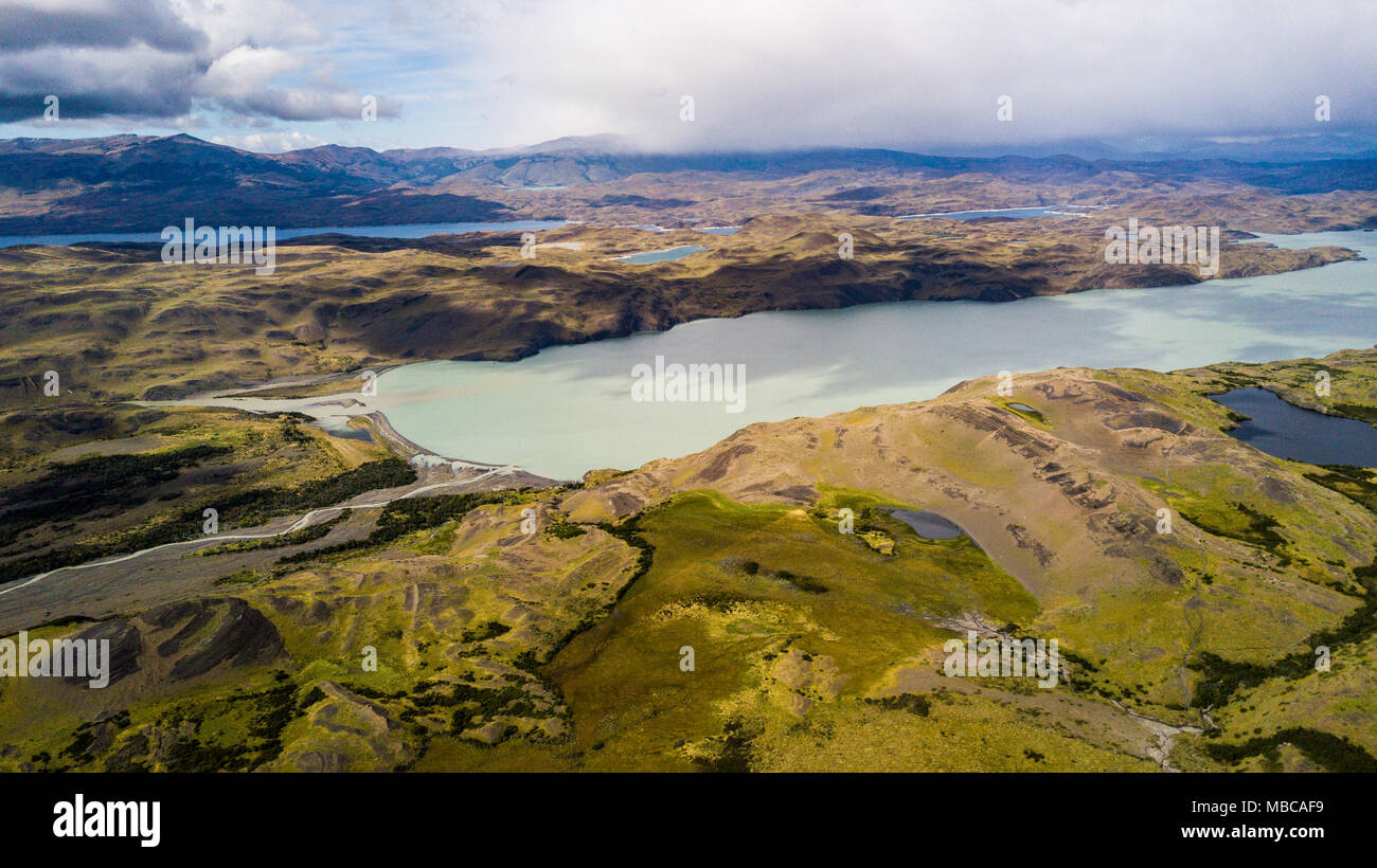 Lago Nordenskjold, Torres del Paine National Park, Patagonia, Chile - Stock Image