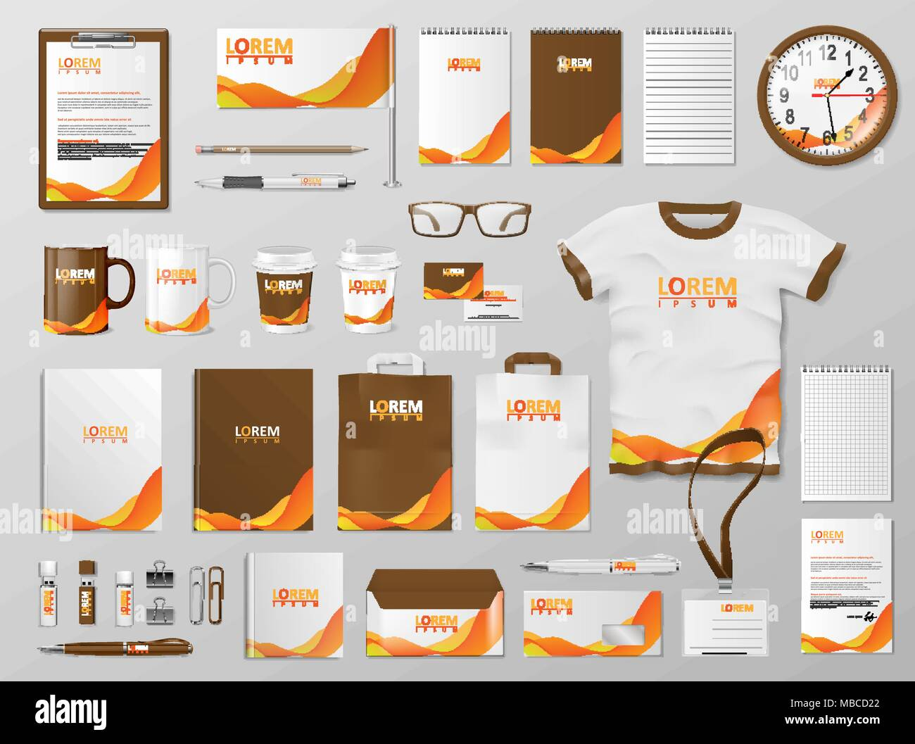 Corporate branding identity template design modern stationery corporate branding identity template design modern stationery mockup for shop with modern orange color business style stationery and documentation maxwellsz