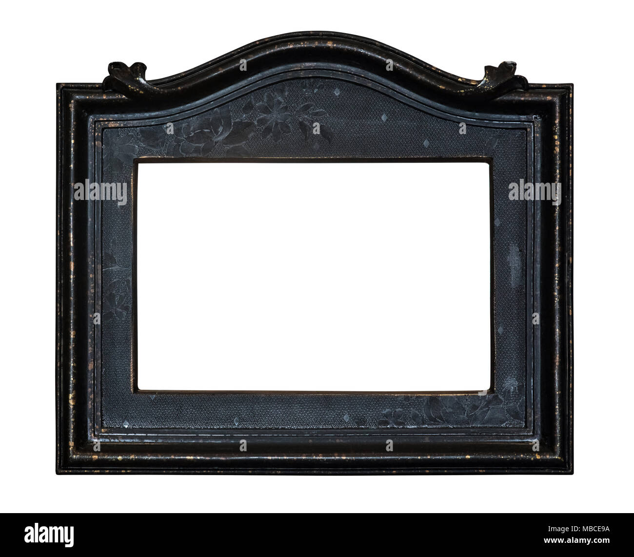 Black vintage photo frame isolated - Stock Image