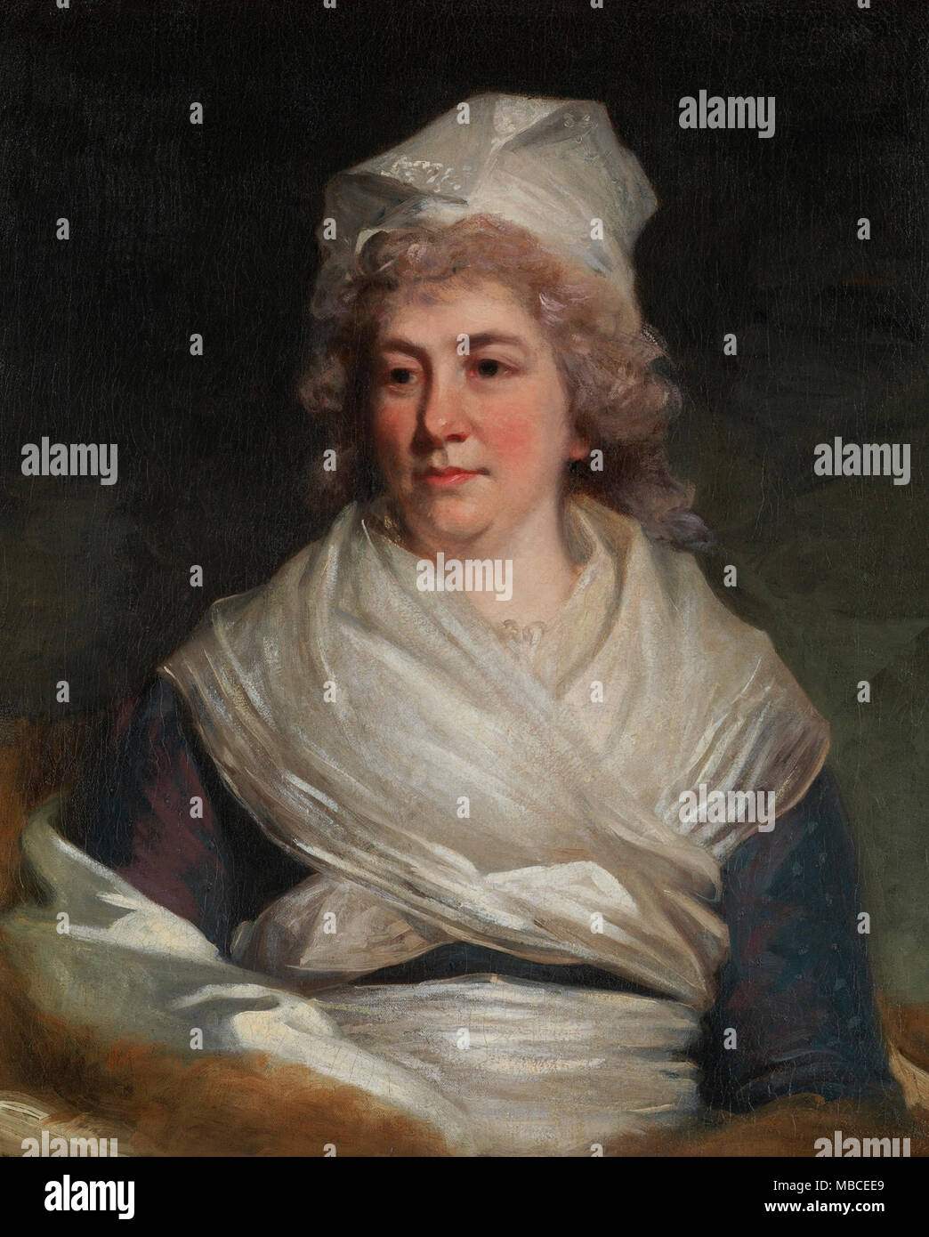 Portrait of Sarah Franklin Bache - John Hoppner, circa 1793 - Stock Image