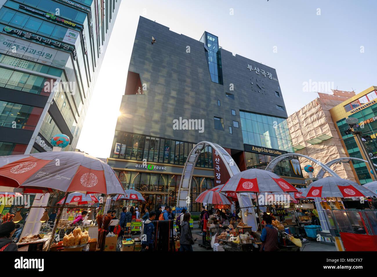 Busan, South Korea - March 24, 2018 : Busan International Film Festival (BIFF) Square in Nampo-dong, Jung-gu Stock Photo