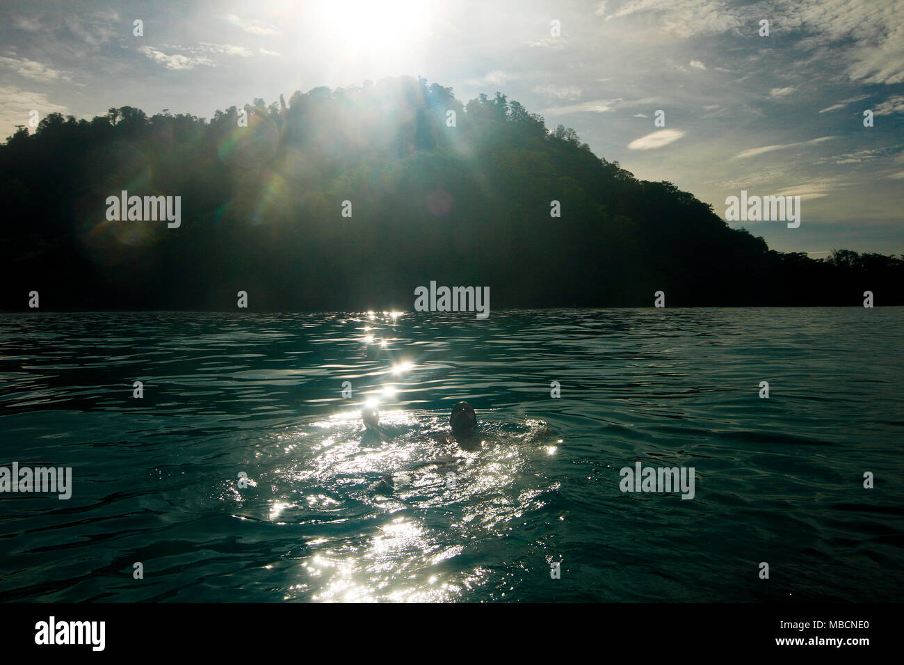 Inhabited island. Gorontalo, Sulawesi, Indonesia - Stock Image