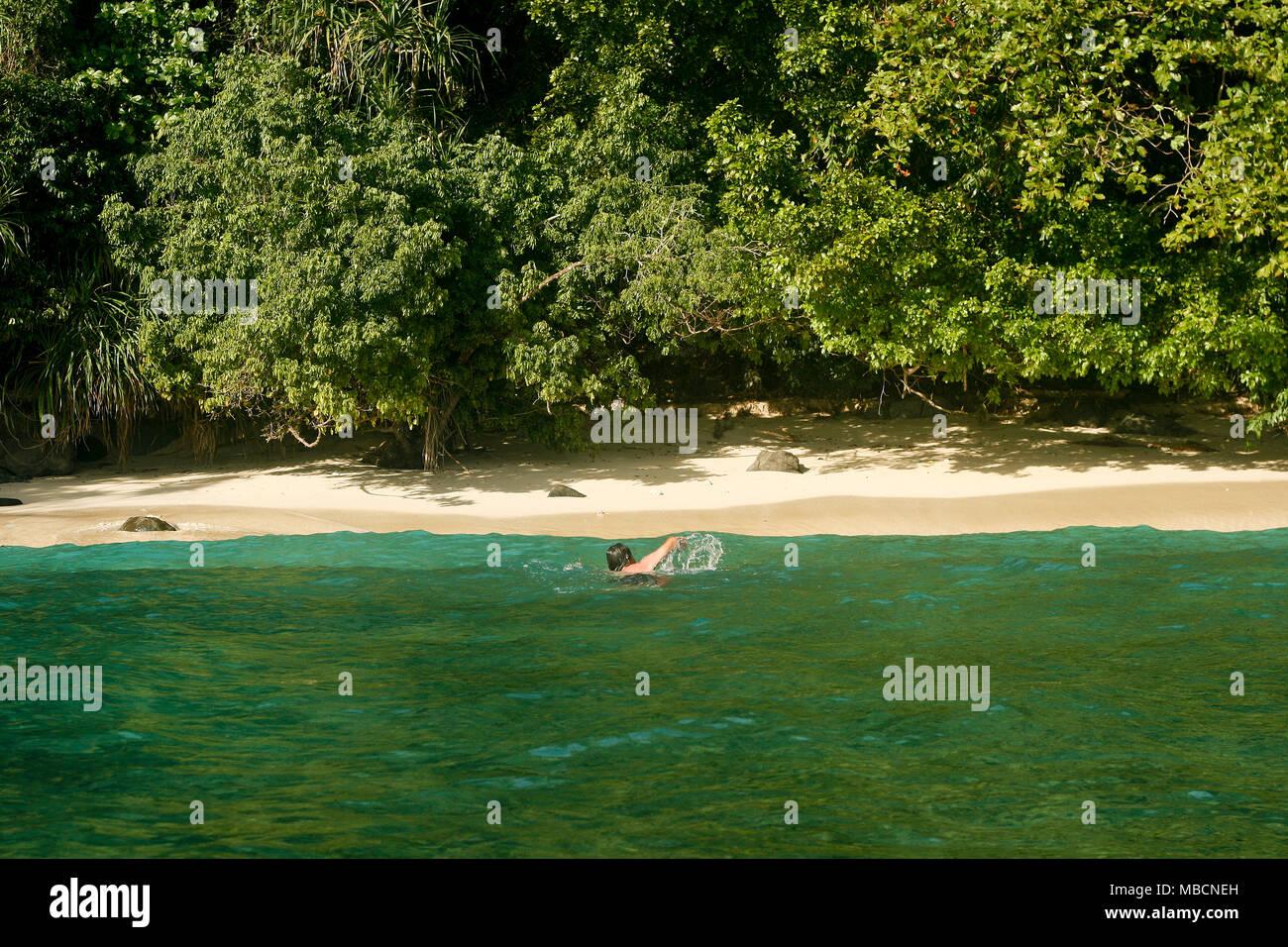 Deserted island. Sulawesi, Indonesia - Stock Image