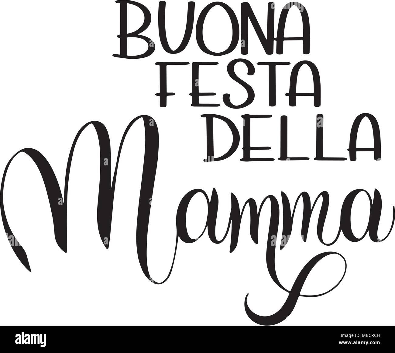 Hand Drawn Italian Happy Mothers Stock Photos Hand Drawn Italian