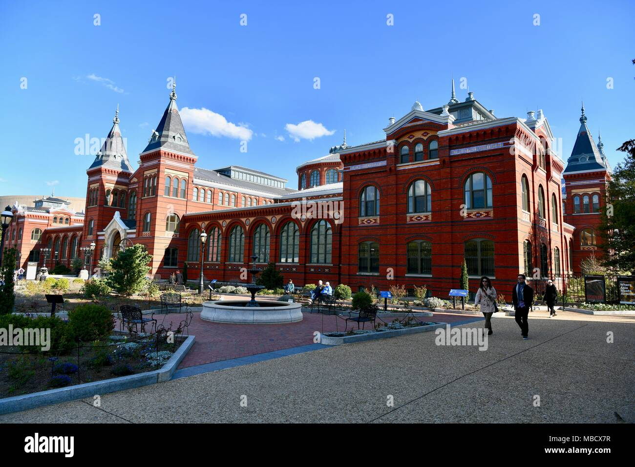 The Arts and Industries Building, part of the Smithsonian Institution in Washington DC, USA - Stock Image
