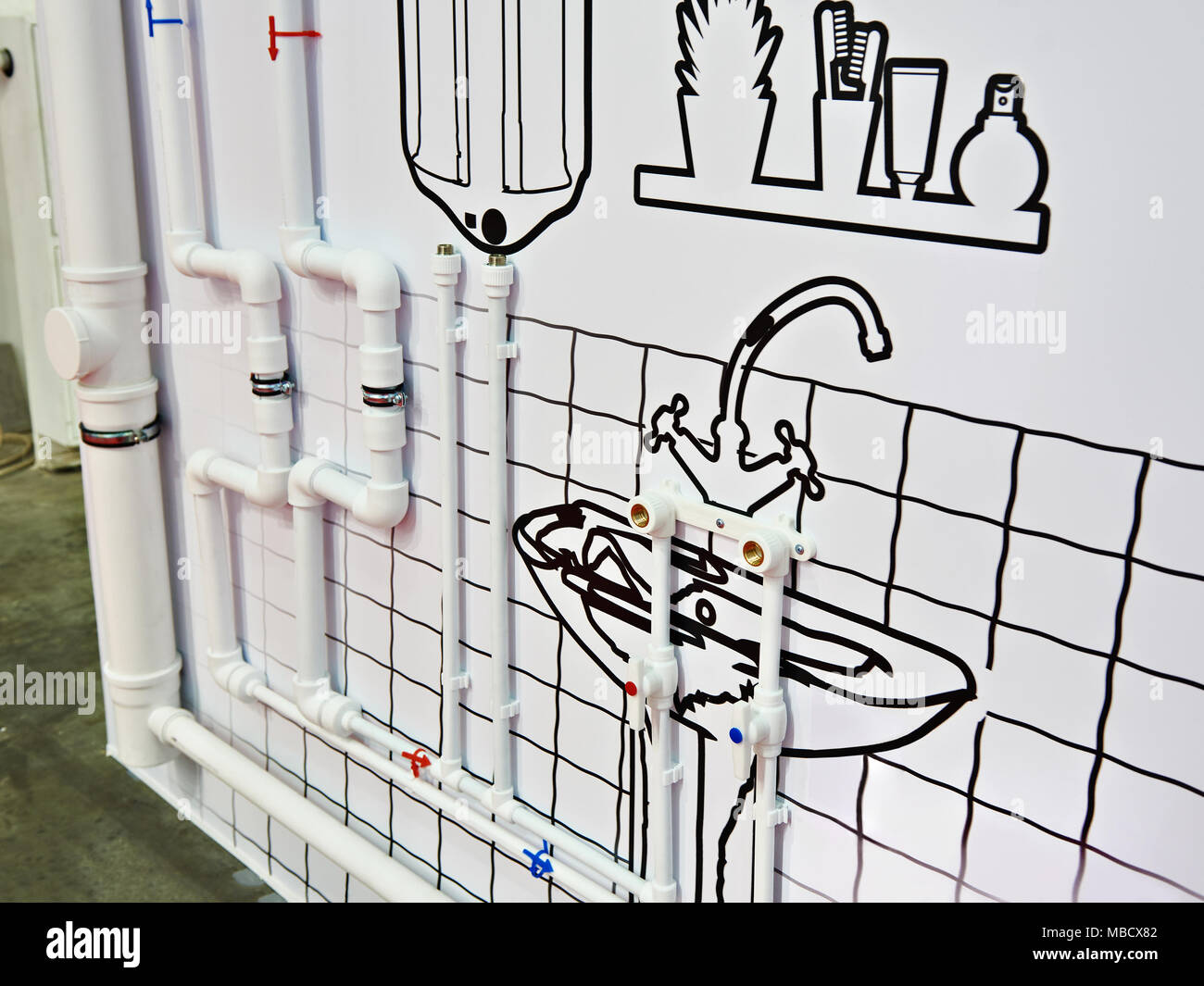 Piping Design Stock Photos Images Alamy Layout Of Water Plastic Home Plumbing Image