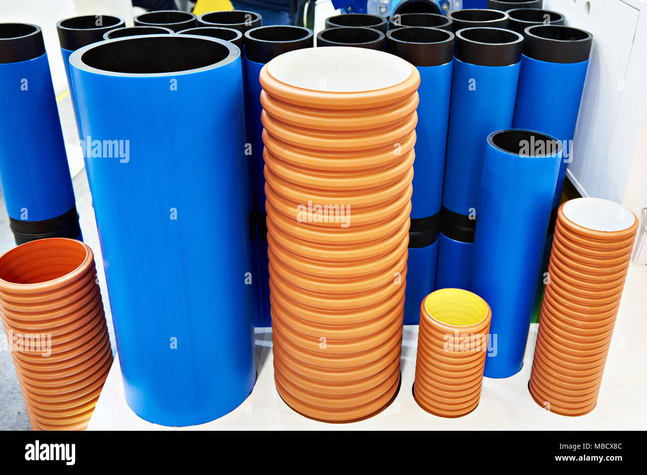 Pvc pipe plumbing system stock photos pvc pipe plumbing for Plastic water pipe