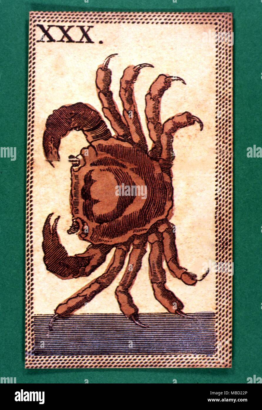 Tarot Cards Minichiate Deck Cancer Stock Photo Alamy
