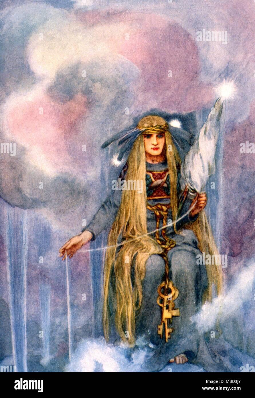 Norse Mythology The Goddess Freya Wife Of Odin The