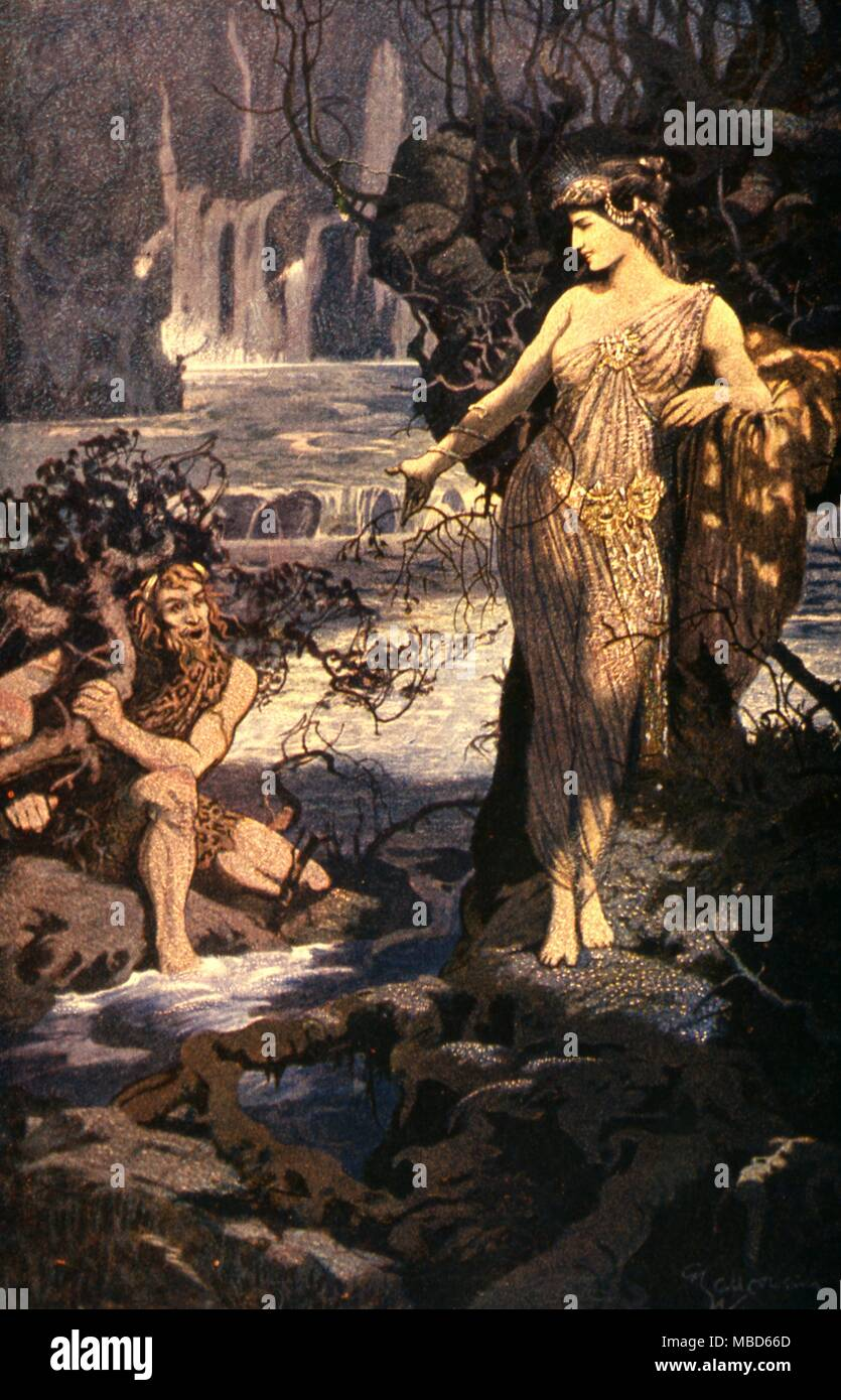Babylonian Mythology Enkidu being tempted by Ishtar   From