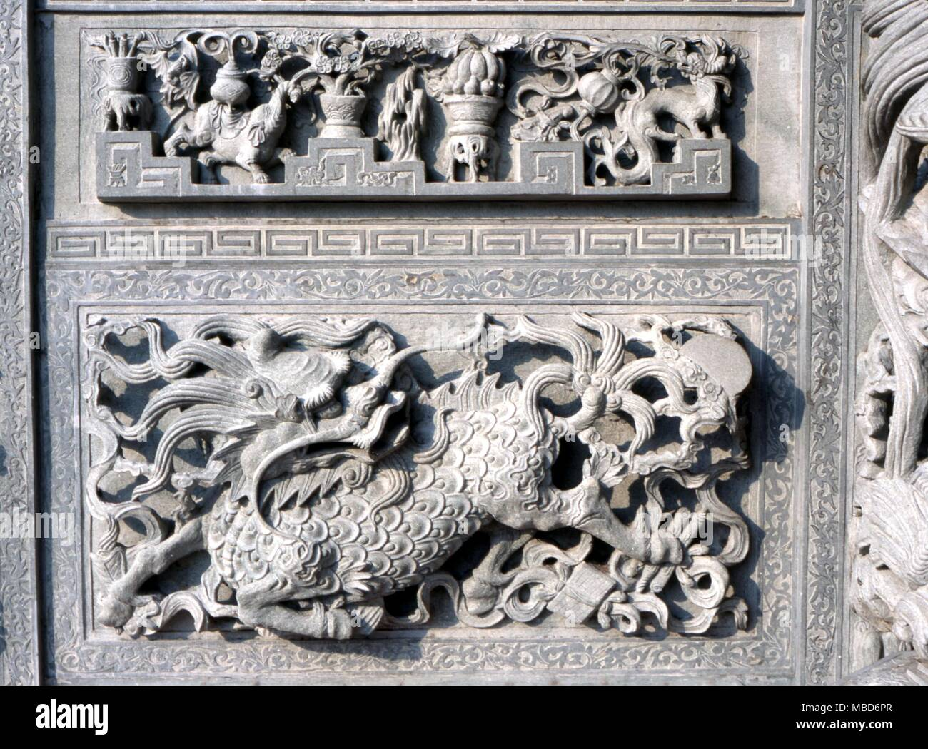 DRAGON - Relief image of a dragon on the outer wall of a