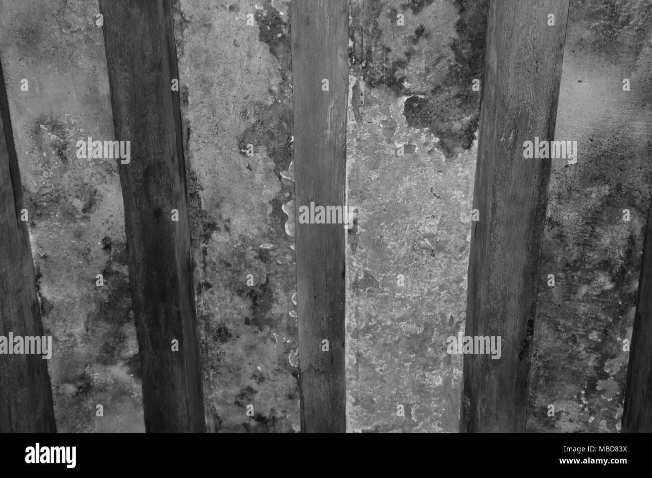 Zoom on an old room ceiling - Stock Image