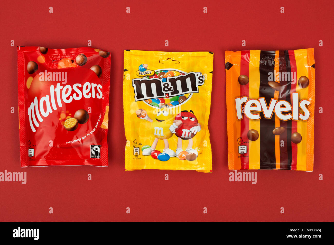 Maltesers M&M and Revels - Stock Image